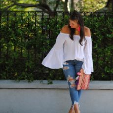 Summer Trend: Romantic Off The Shoulder Top. Don't Forget The Bell Sleeves.